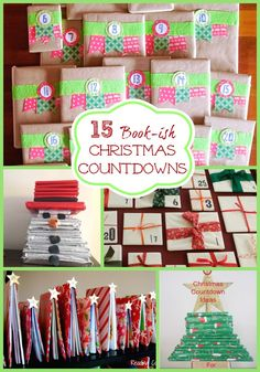 15 Book-ish Advent Calendar Ideas! If your little one loves advent calendars, you will really love these amazing DIY Advent Calendars using books!