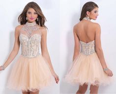Cute Homecoming Dress,Tulle Homecoming Dresses,Short Prom Gown,Champagne Prom Gowns,Beading Prom Dress,Ball Gown Homecoming Dresses
