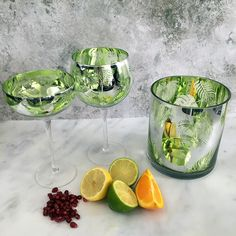 Introducing the new Artland Tropical Leaves range made from mouth blown glass. The exterior has a mirrored silvered finish featuring a lasered out rich foliage of leaves most commonly found in the rain forest. The leaves are made richer Gin Glasses, Aga, Tropical Leaves, Leaf Prints, How Beautiful, Amazing, Tableware, Dinnerware, Tablewares
