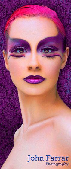 lila Wimpern - Famous Last Words Exotic Makeup, Eye Makeup, Hair Makeup, Maquillaje Halloween, Halloween Face Makeup, Extreme Makeup, Fantasy Make Up, Make Up Art, Makeup Photography