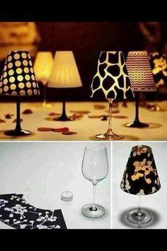 Kerze Tischlampe Weinglas Teelicht