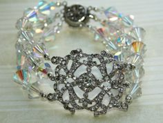 Swarovski Crystal Cuff Bracelet  https://www.etsy.com/shop/foreverluna70?ref=si_shop