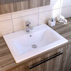 Umywalka wpuszczana w blat ONTARIO NEW 50 K669-001 Cersanit Ontario, My House, Sink, House Inspirations, Houses, Interiors, Home Decor, Washroom, Sink Tops