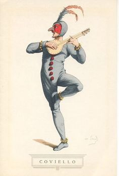 Artistic director Helgi Tomasson sees SF Ballet's 'Don Quixote' as a ballet version of Commedia dell'Arte: a type of dramatic improvisation popular throughout Europe during the 16th and 17th centuries. This kind of performance featured stock characters, deception, chase scenes, and physical humor. (Illustration: Commedia dell'Arte Figure, Maurice Sand)