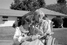 Nancy Reagan with her mother, Edith Davis in Phoenix, Arizona.  October 5, 1982.