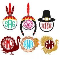 Thanksgiving Indian Monogram Designs Svg Cuttable by CuttableSVG Cricut Monogram, Monogram Decal, Monogram Frame, Monogram Fonts, Cricut Vinyl, Silhouette Cameo Projects, Silhouette Design, Vinyl Crafts, Vinyl Projects