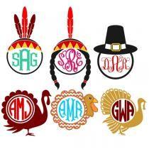 Thanksgiving Svg Cuttable Frame Designs