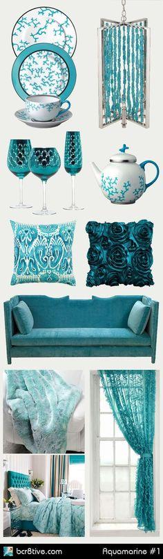 Accesorios para decorar en color Aqua y Turquesa.