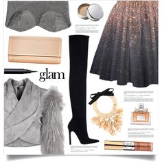 How To Wear Go Glam Outfit Idea 2017 - Fashion Trends Ready To Wear For Plus Size, Curvy Women Over 20, 30, 40, 50