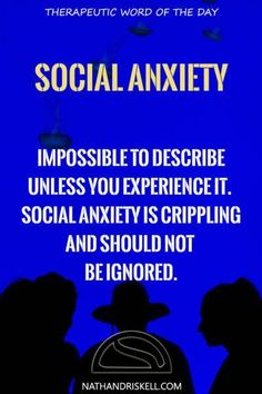 Social anxiety is more common then you think. Millions of people suffer with it. It is not simple to ignore, and can lead to panic attacks. If you have not experienced it, you do not understand. #socialanxiety #fear http://nathandriskell.com