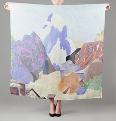 Carré Cervin Multicolore, interesting idea on one off piece large scene