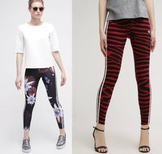 Adidas Originals Red Clash Leggins Multco leggins ropa red Originals Multco leggins Clash ADIDAS Noe.Moda