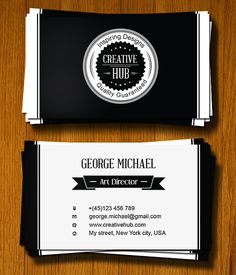 Design a Clean, Colorless Business Card in Illustrator
