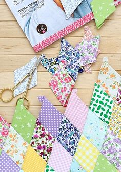 English paper piecing by cafe noHut, via Flickr