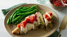 Enjoy your favorite summer flavors any time of year with these easy stuffed caprese chicken breasts.