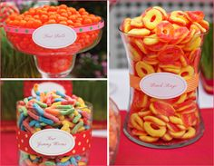orange and pink wedding theme | Lots of sweets, pink and orange everywhere and a warm summer day ...