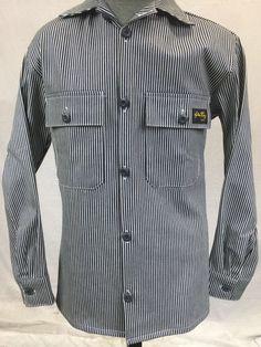 New STAN RAY Hickory Stripe Denim Un-Lined 2-pocket Shirt Jacket Overshirt