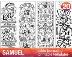 JOB 4 Bible journaling printable templates by BibleVerseColoring