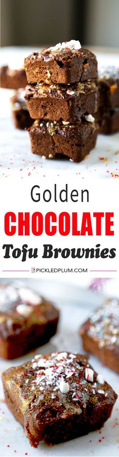 No oil or butter needed! Silken tofu is the secret to making moist and low fat chocolate brownies your kids won't be able to stop eating. Low Fat Chocolate, Chocolate Brownies, Chocolate Desserts, Chocolate Lovers, Healthy Desserts, Delicious Desserts, Yummy Food, Tasty, Healthy Eats
