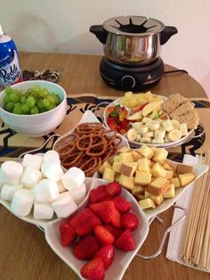 Girls Night In! With chocolate fondue recipe :)
