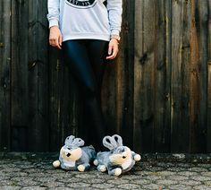Lustige Hausschuhe Hase Crazy Bunny S (Größe 36-38)