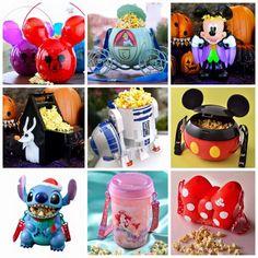 Popcorn Buckets from Disney Parks