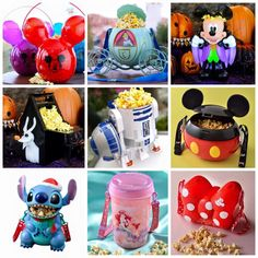 Popcorn Buckets from Disney Parks