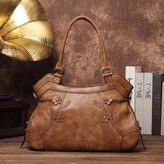 8320932edbf8 Brenice Vintage Flowers Handbags Business Shoulder Bags Vintage Handbags