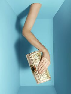 Fashion photography still life: clutch