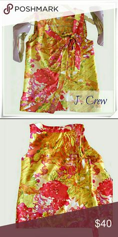 14e0f7cfcd4b8b 👚🍉J.Crew sleeveless top Like new🍋 🌟Made of back and front