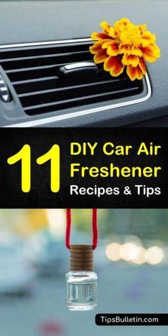 DIY Car Air Freshener Recipes: 11 Tips for Natural Car Air Fresheners - Trend Natural Cleaning Recipes 2019 Homemade Air Freshener, Natural Air Freshener, Car Freshener, Diy Car Air Fresheners, Pot Mason, Mason Jars, Diffuser Diy, Natural Cleaning Products, Cleaning Hacks