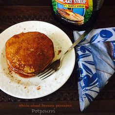 An eggless wholewheat banana pancake recipe,a hit with the kids for sure.