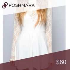 White Lace Skater Dress Beautiful For Love and Lemons skater dress with lace detail! For Love and Lemons Dresses Mini