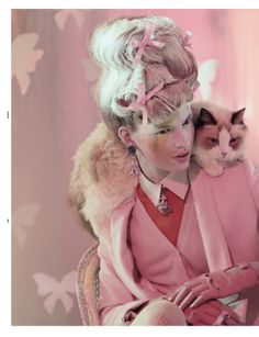 """Animal Attraction"" with Bette Franke by Jeff Bark for Dazed & Confused, April 2012. °"