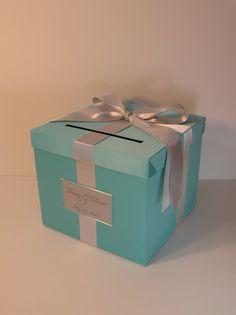 Tiffany Wedding Card Box Gift Card Box Money Box by bwithustudio