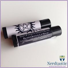 Supernatural inspired Sams Favorite Demon Blood Lip Balm    Sam Winchester has had some ups and downs. One of the downs is definitely the