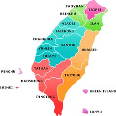Map of Taiwan and the offshore islands