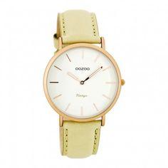 OOZOO Vintage horloge Beige/Wit C7743 (36 mm) - Dames