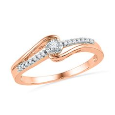 I've tagged a product on Zales: 1/10 CT. T.W. Diamond Promise Ring in 10K Rose Gold