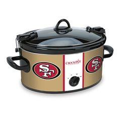 San Francisco 49ers NFL Crock-Pot®.  I HAVE FOUND MY NEW CROCK POT!!!