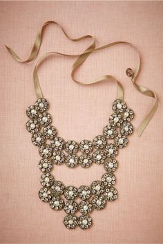 Glinted Flora Necklace from BHLDN