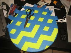 Fastest way to tape off a chevron pattern. Wish I had seen this a few weeks ago before I painted 3 chevron canvases....