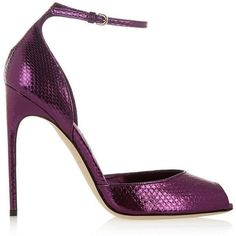 Brian Atwood Oriana metallic watersnake sandals, Women's, Size: 40.5 (3,020 PEN) ❤ liked on Polyvore featuring shoes, sandals, heels, brian atwood, pumps, purple, d'orsay shoes, strap high heel sandals, brian atwood sandals and strappy heel sandals #brianatwoodheelsstrappysandals #brianatwoodoriana