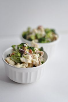 Broccoli & Cauliflower Salad | I wonder what I could use instead of mayo? Not a big mayo person.
