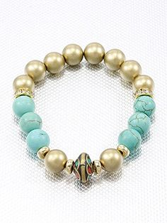 Turquoise and Gold,fashion Indian Vintage Bracelet Bead Accent Stretch Style Materials Rhinestone Length 10 Inch Width 0.4 Inch Unknown http://www.amazon.com/dp/B00KXAYD00/ref=cm_sw_r_pi_dp_ZvMLvb0GC5VH3