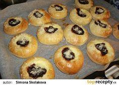 Olejové koláčky recept - TopRecepty.cz Bacon Roll, Muffin, Rolls, Food And Drink, Breakfast, Recipes, Program, Table, Bakken
