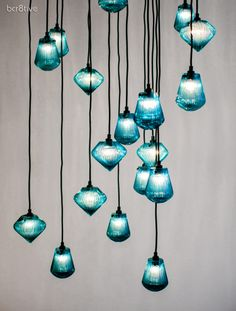 Tom Dixon Glass Light Bead & Glass Light Tops  Available on » http://www.tomdixon.net/products/us/lighting/