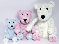 Amigurumi For Dummies Book : Teddy with flower amigurumi crochet pattern pdf e book stuffed