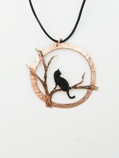 A purrrfect gift for the cat lover in your life.  My Process: This beautifully detailed design depicting a cat perched on a tree branch is