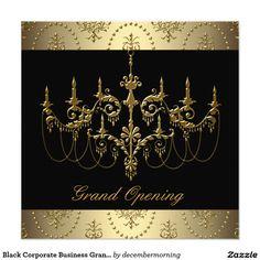 Fiesta negro de la gran inauguración del negocio